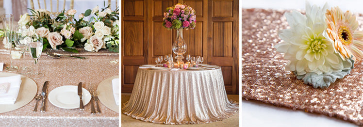 Sequin Wedding Table Cloths