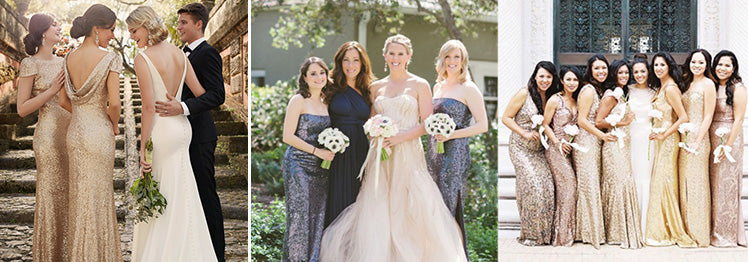 Sequinned Bridesmaid Dresses