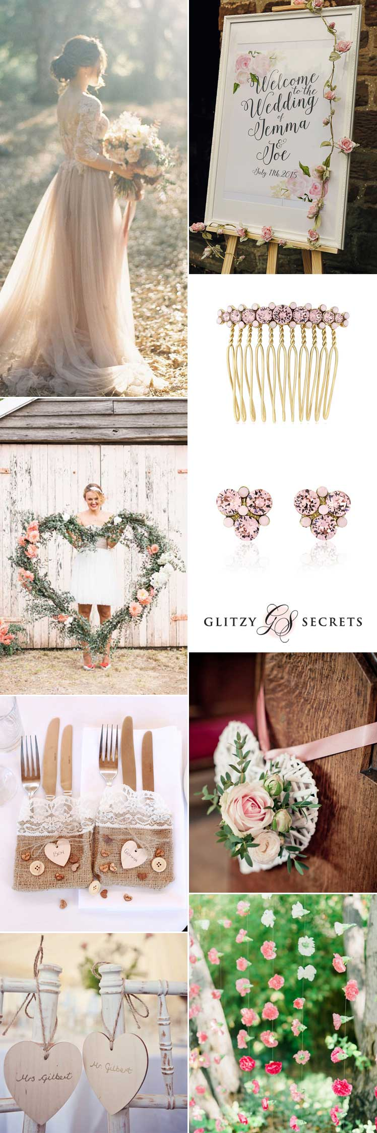 a shabby chic valentines wedding