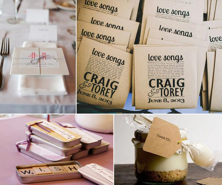 Personalised DIY wedding favours for your guests