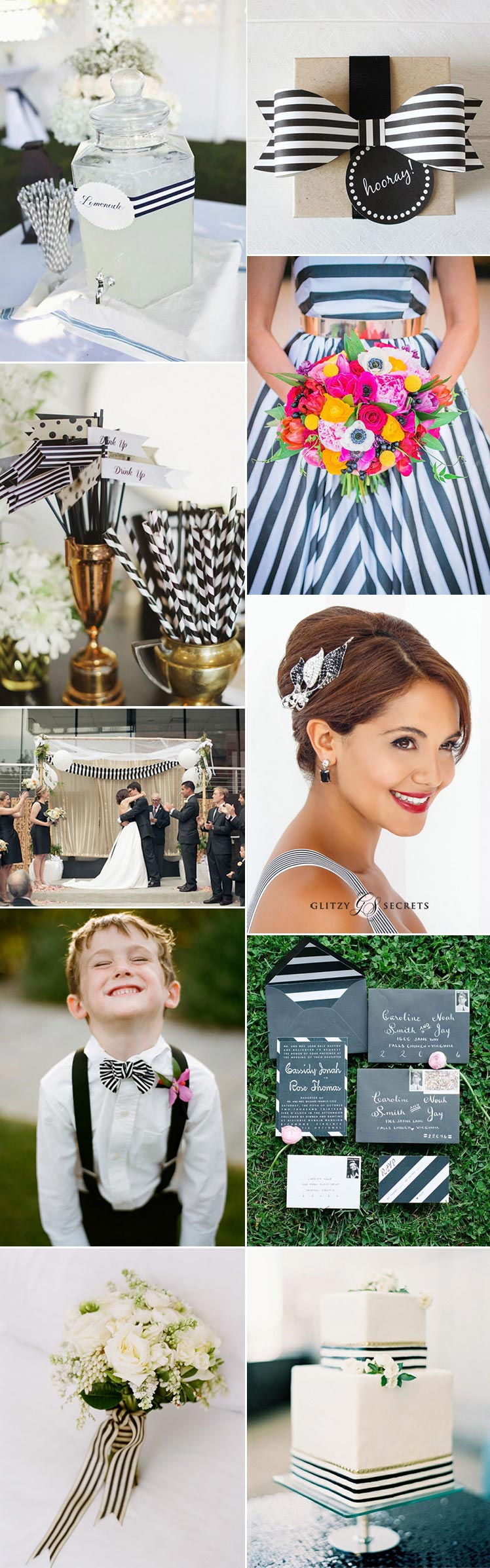 Ideas for a striped wedding theme