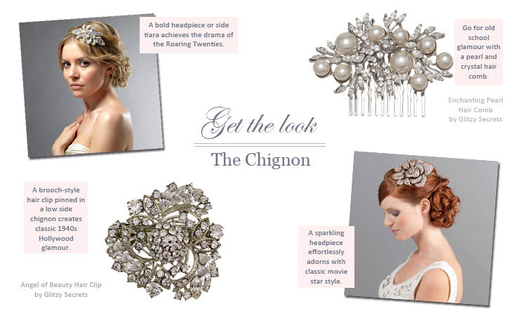 How to style a chignon wedding hairstyle