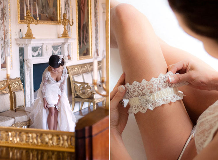 The tradition of bridal garters