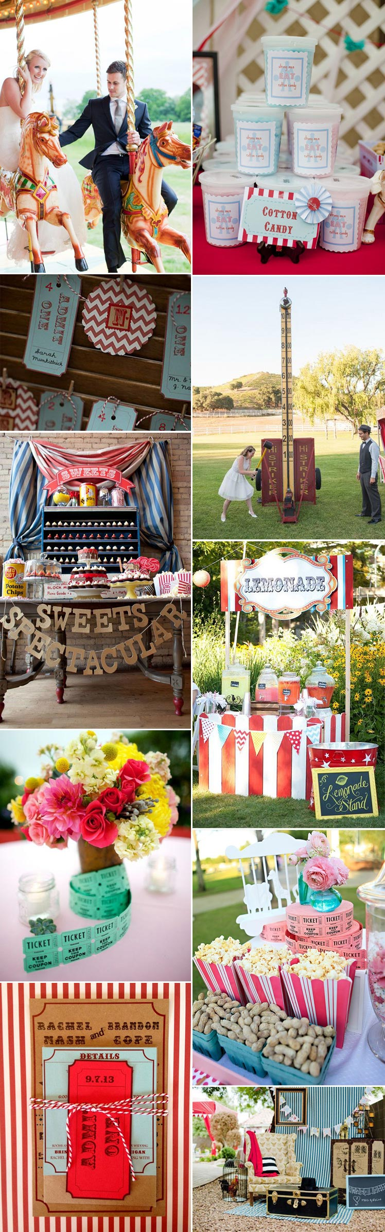 Ideas for a funfair wedding theme