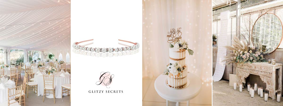 White and Rose Gold Wedding inspo