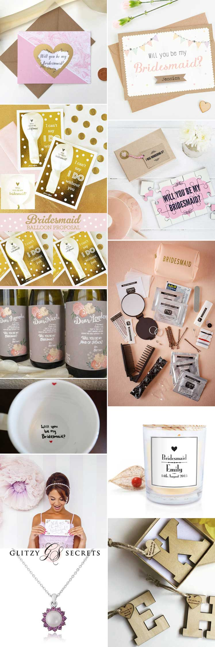 Will you be my bridesmaid ideas inspiration