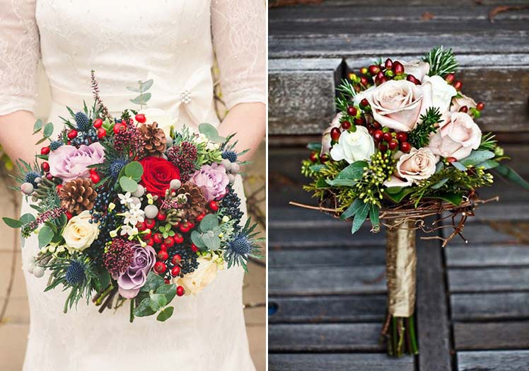 Stunning bouquets for a winter wedding