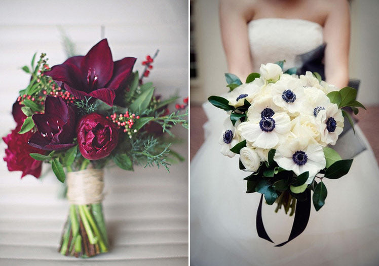 Gorgeous winter wedding bouquets