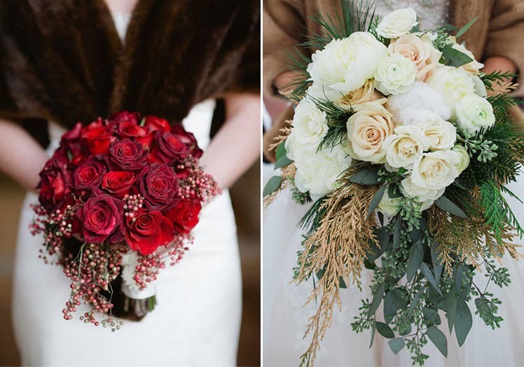 Roses for your winter wedding bouquets