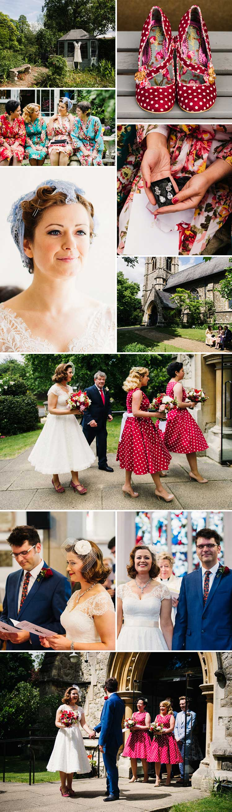 A 1950s real wedding featuring Glitzy Secrets jewellery