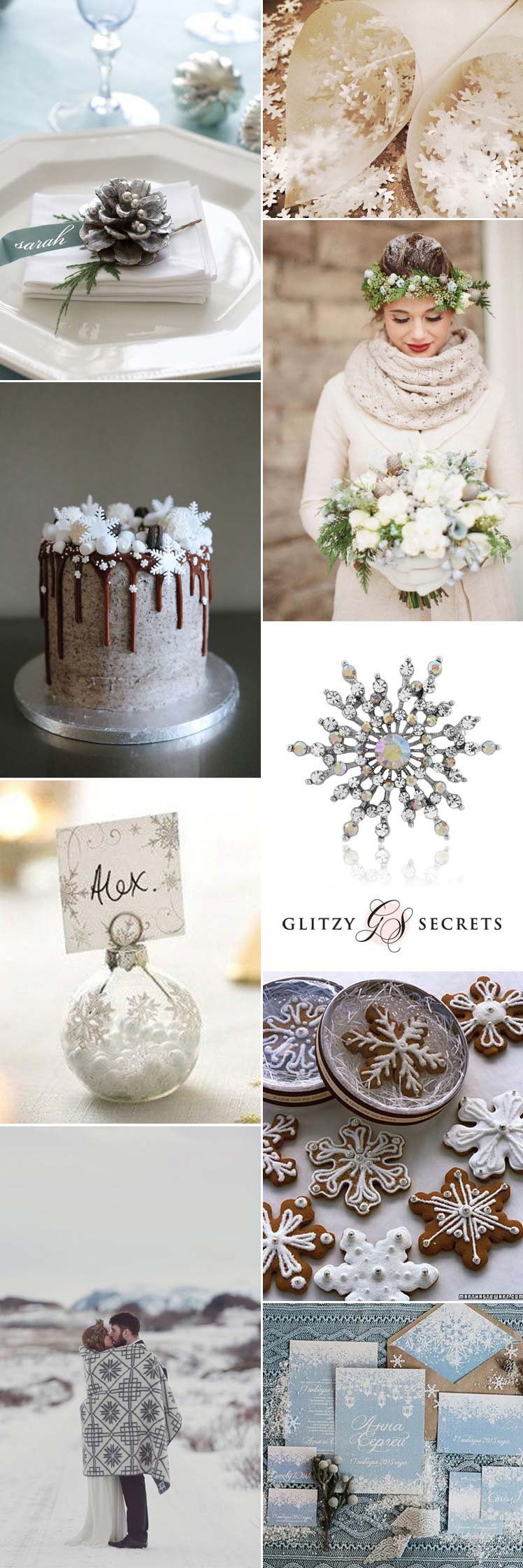 Snowflake wedding inspiration