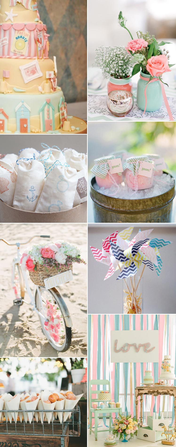Traditional seaside wedding inspiration
