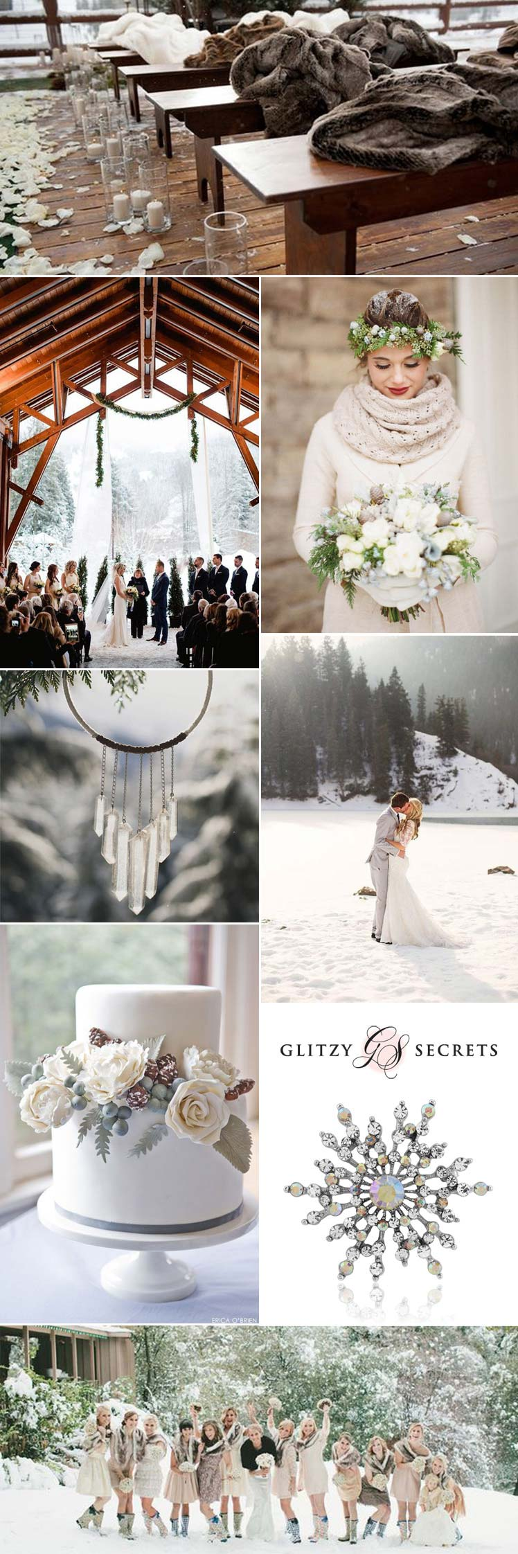 Ideas for a beautiful snow wedding theme
