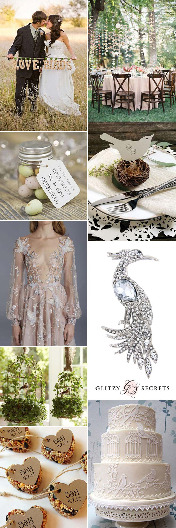 birds can create a fabulous wedding theme