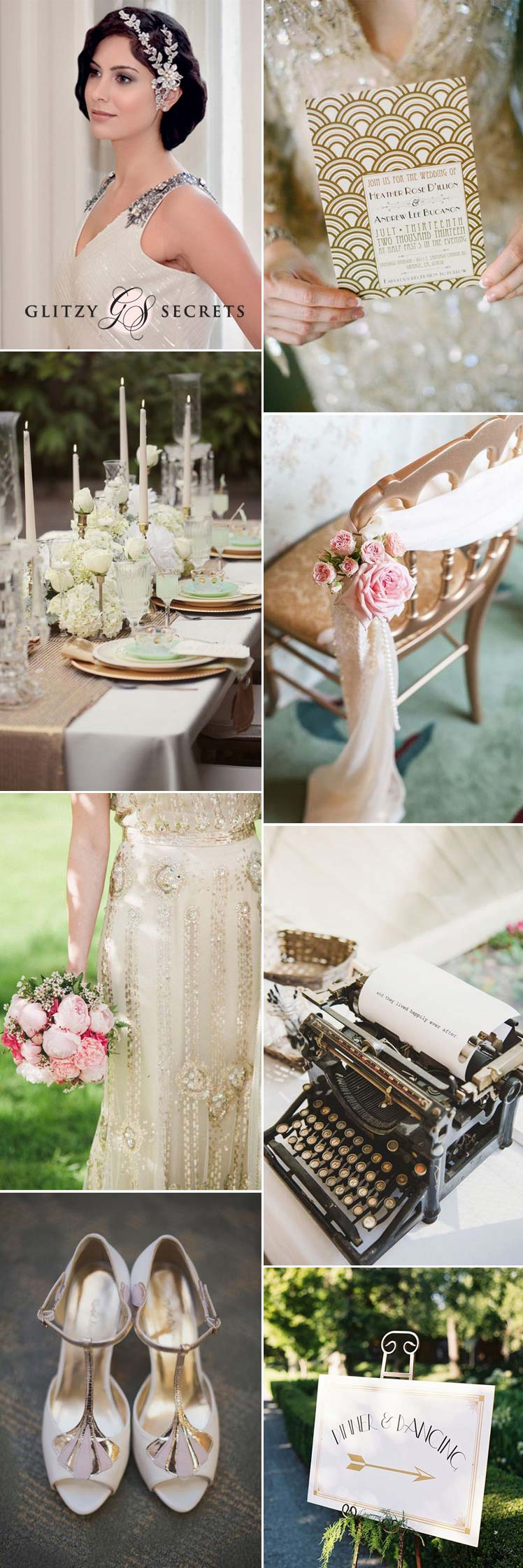 Modern Gatsby wedding inspiration and ideas