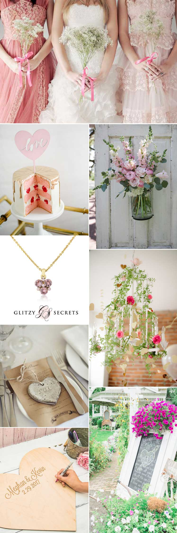 Ideas for a Valentine wedding day with a shabby chic style
