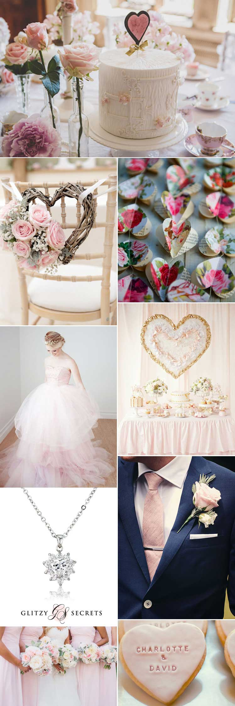 Heart themed Valentine wedding inspiration
