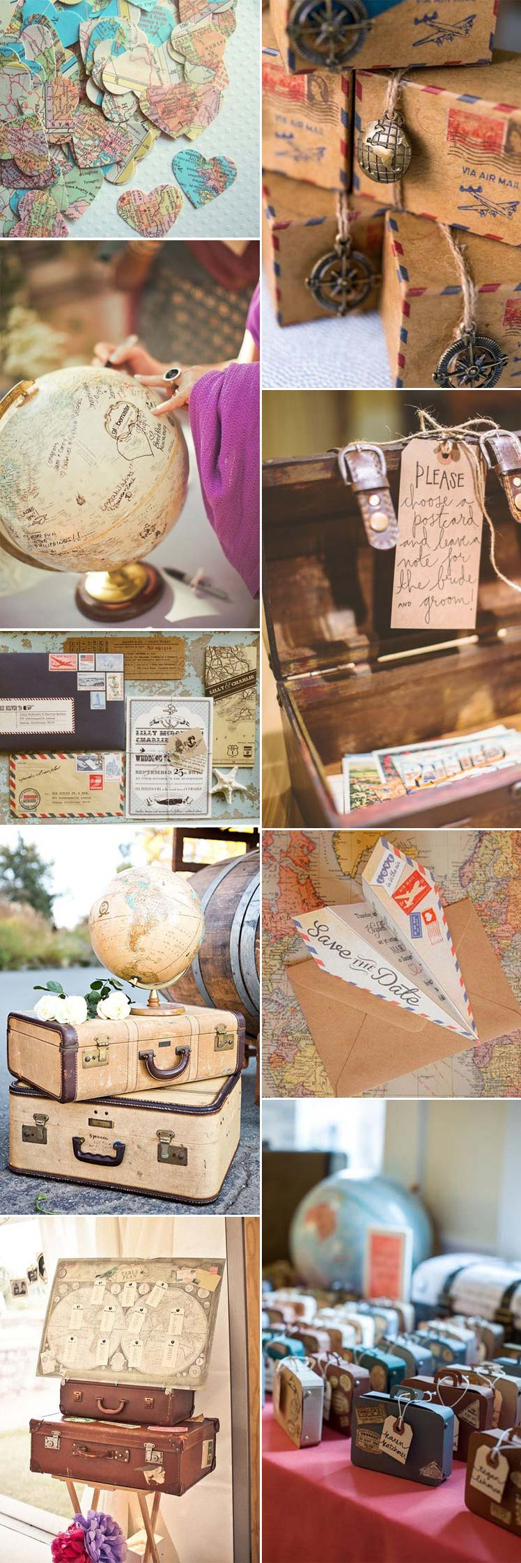 vintage travel theme wedding ideas