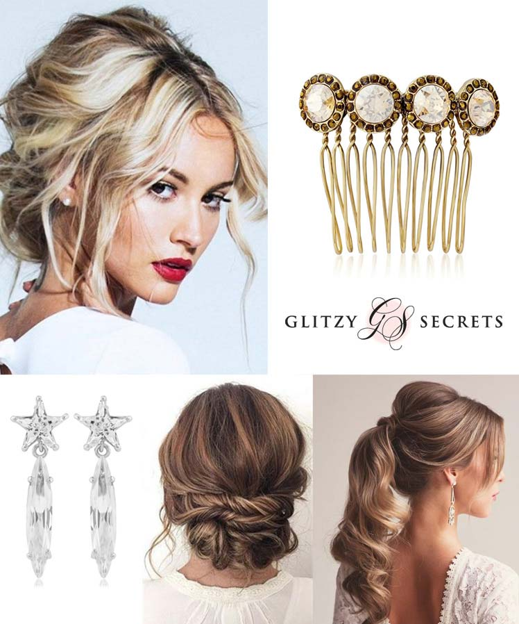 beautiful accessories for a christmas updo