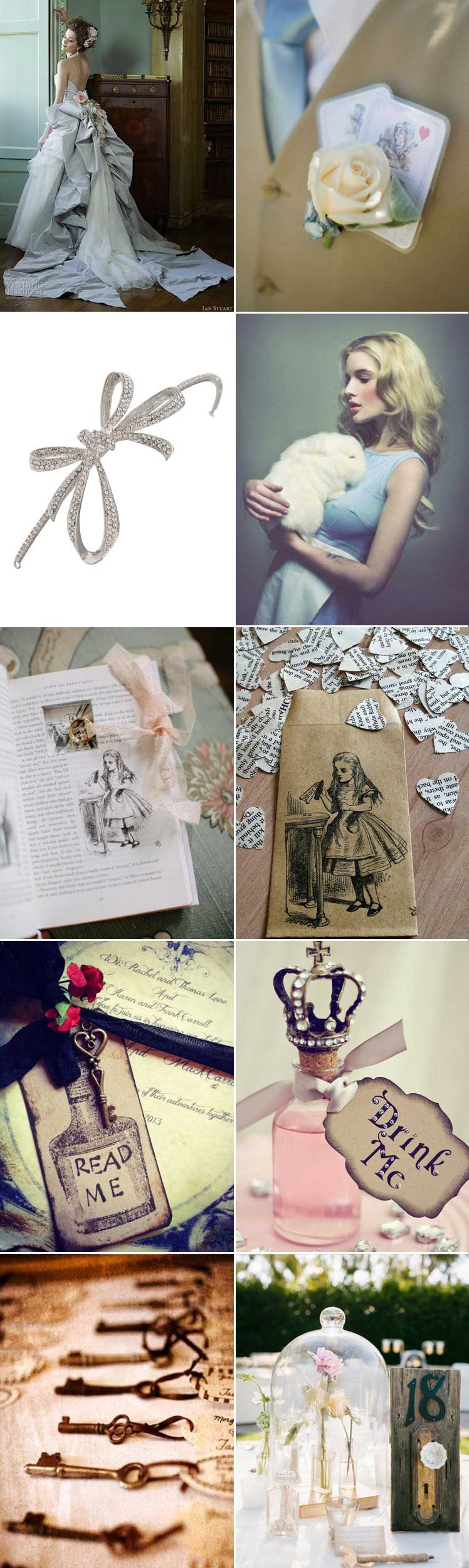 Embrace the magic of Alice in Wonderland for your wedding day theme