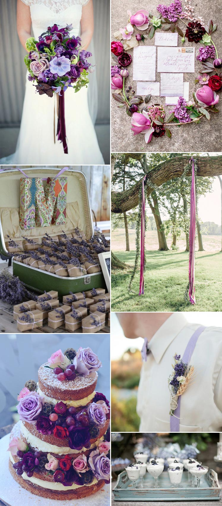 amethyst wedding ideas to incorporate throughout your day