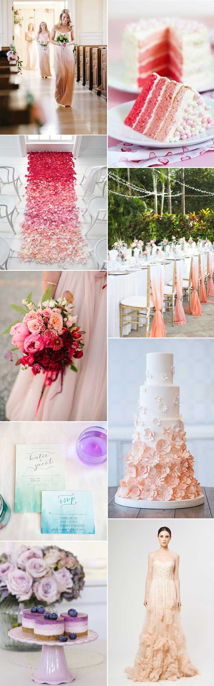 Ombre wedding theme inspiration