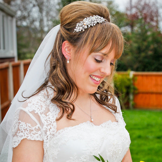 Anna wears Heirloom of Beauty Side Tiara by Glitzy Secrets