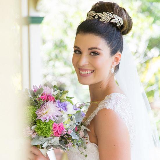 Ashlee Wears Vintage Wreath Tiara by Glitzy Secrets