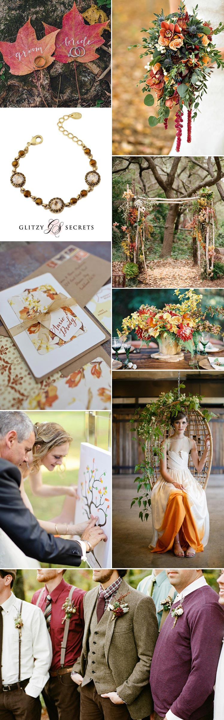 Stunning autumn wedding ideas in rust tones