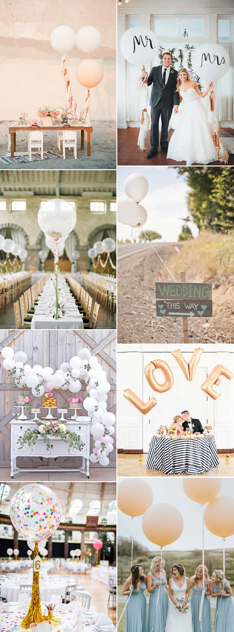 include balloons in your wedding theme