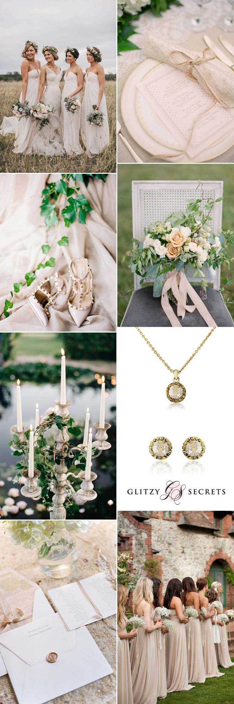 not so boring beige wedding inspiration