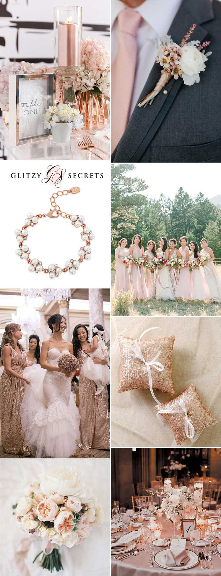 fabulous blush and rose gold wedding inspiration