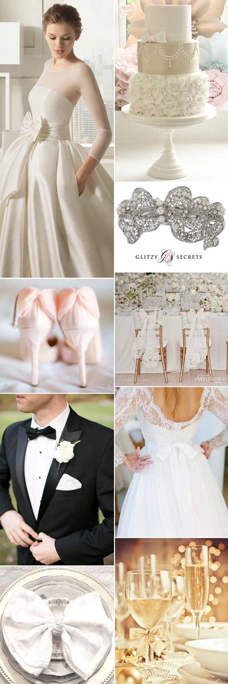 beautiful ideas for a bow wedding theme