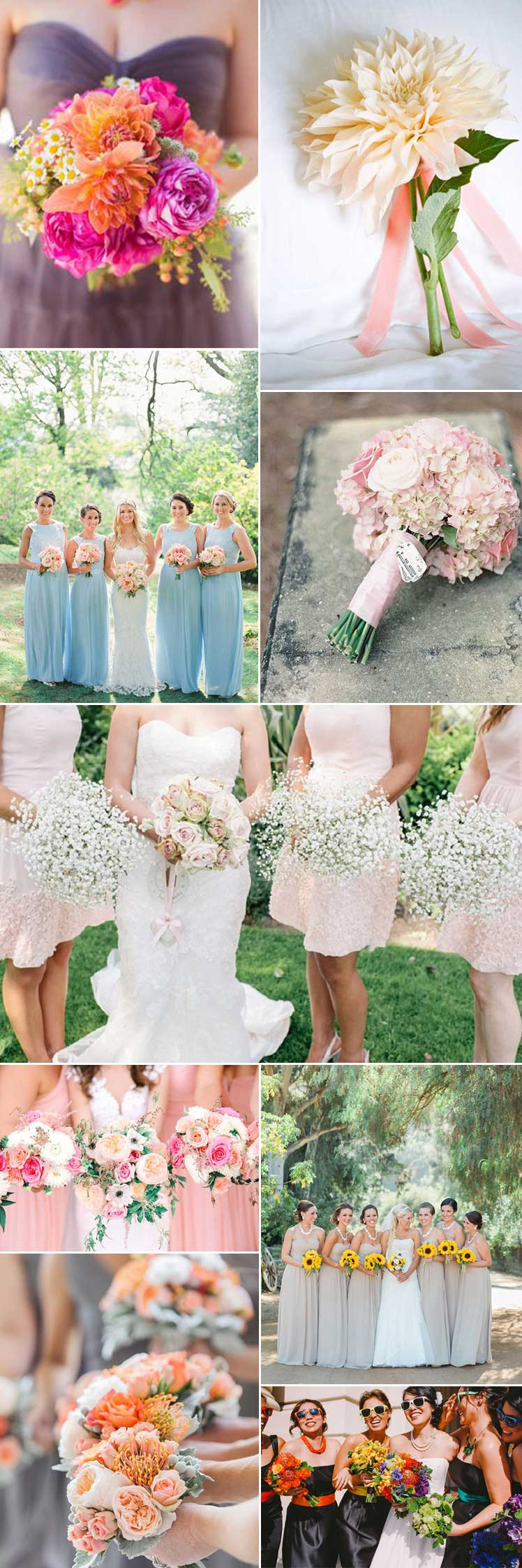 floral posies for bridesmaids