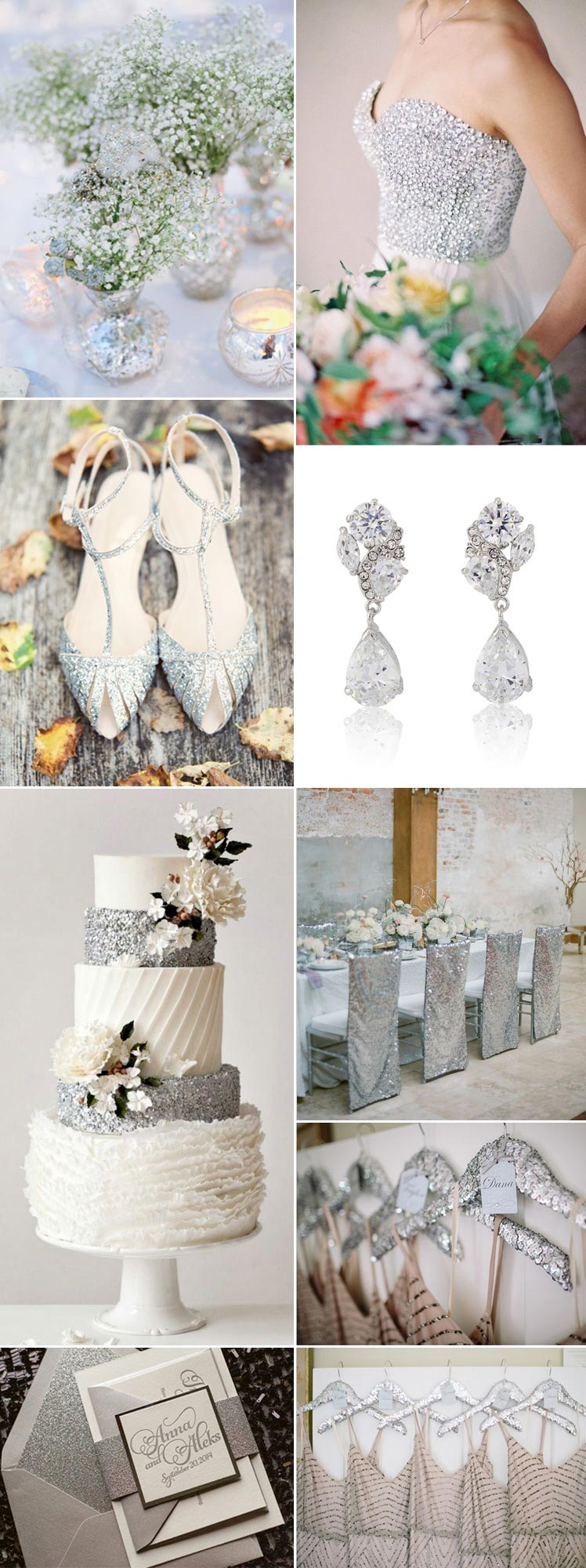 a sparkling diamond wedding theme