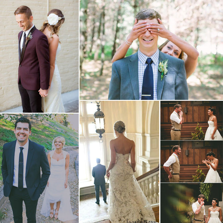 first look wedding photos which will have you swooning