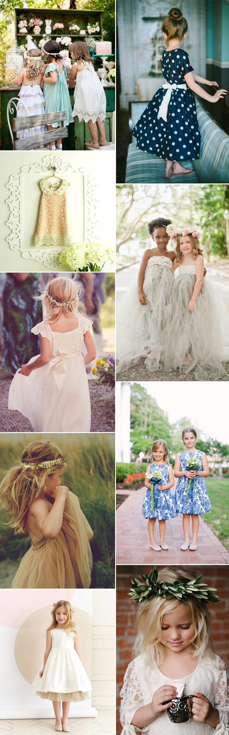 Cute and pretty flower girl dresses