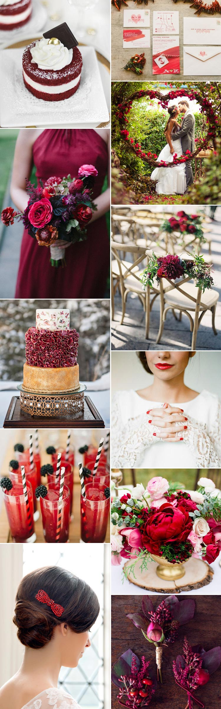 Stunning inspirational ideas for a ruby wedding