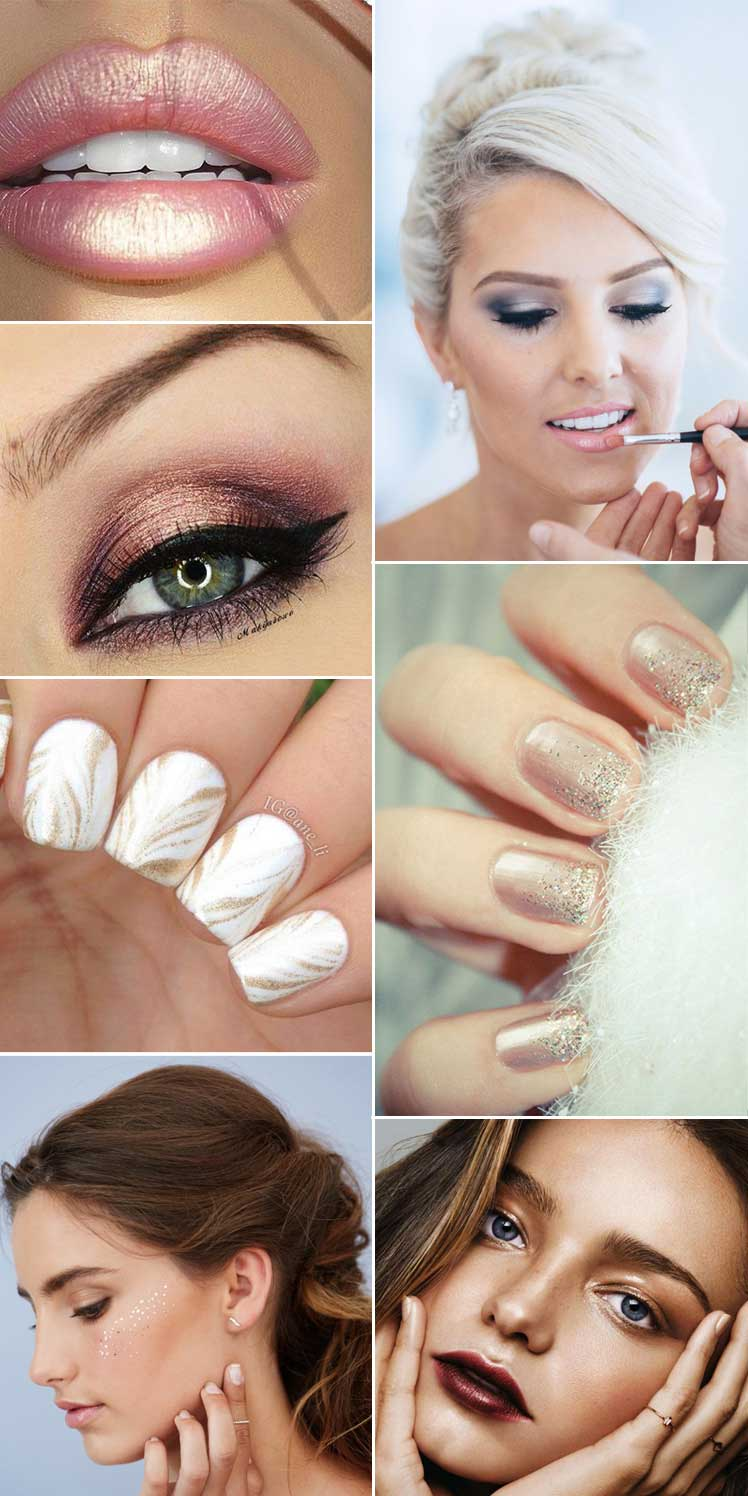 shimmering metallic wedding makeup ideas