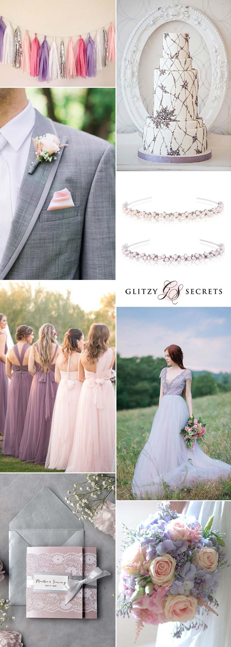 beautiful ideas for a pink lilac and silver wedding theme