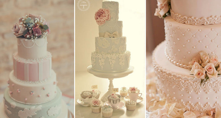 Pretty vintage wedding cake ideas
