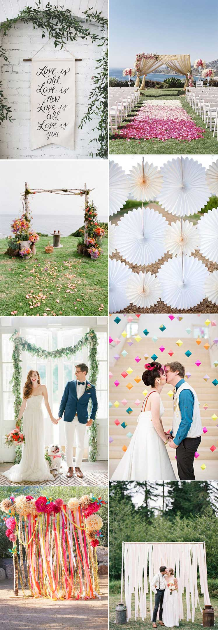 Inspiration for wedding backdrop decor