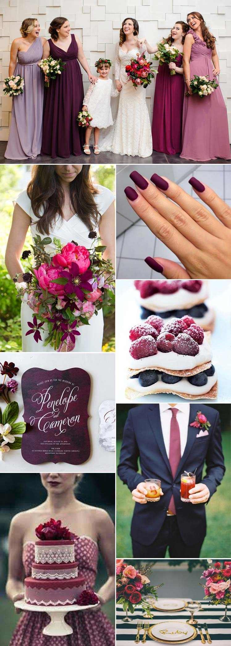 Berry wedding colour scheme ideas