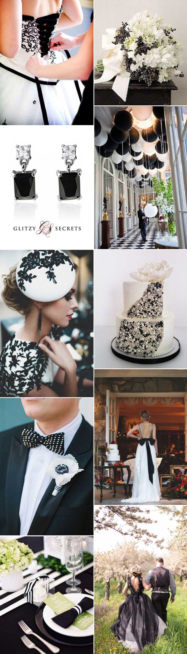 Chic monochrome wedding theme ideas