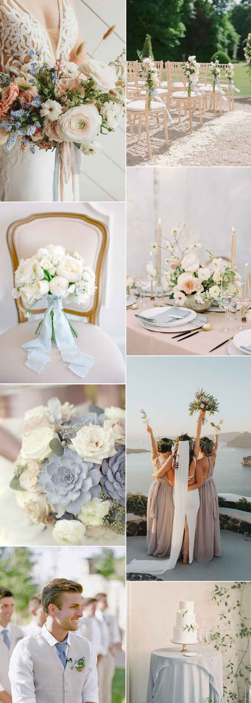 Blue and beige wedding ideas