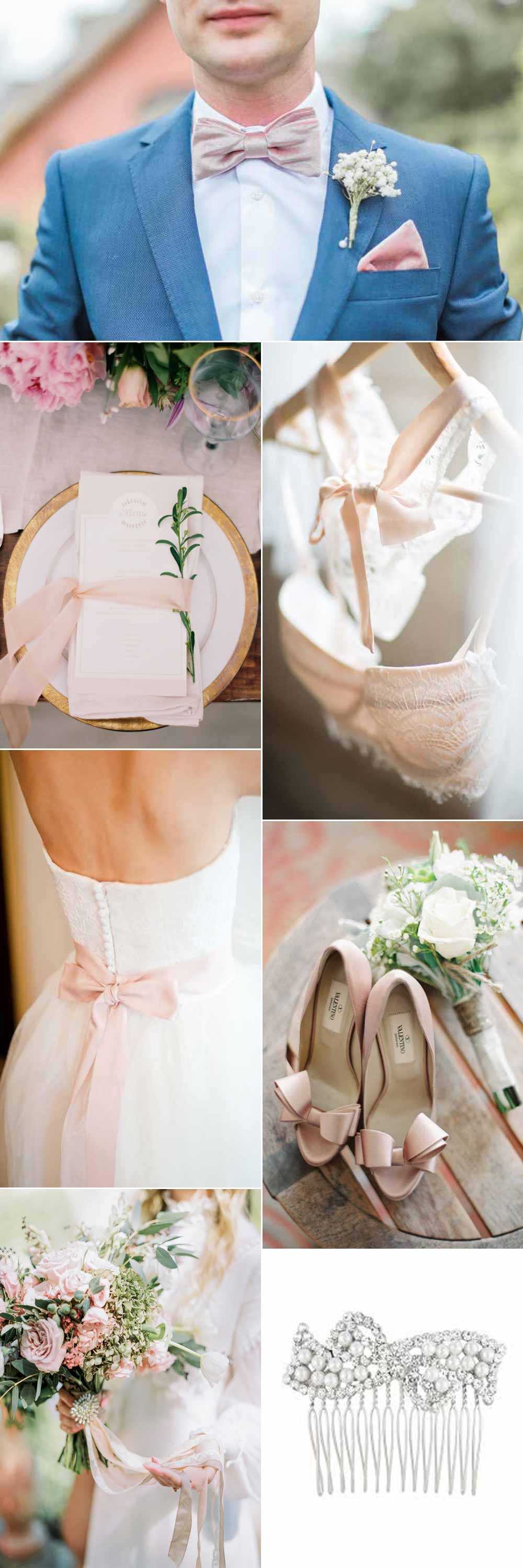Blush and bow wedding inspiration