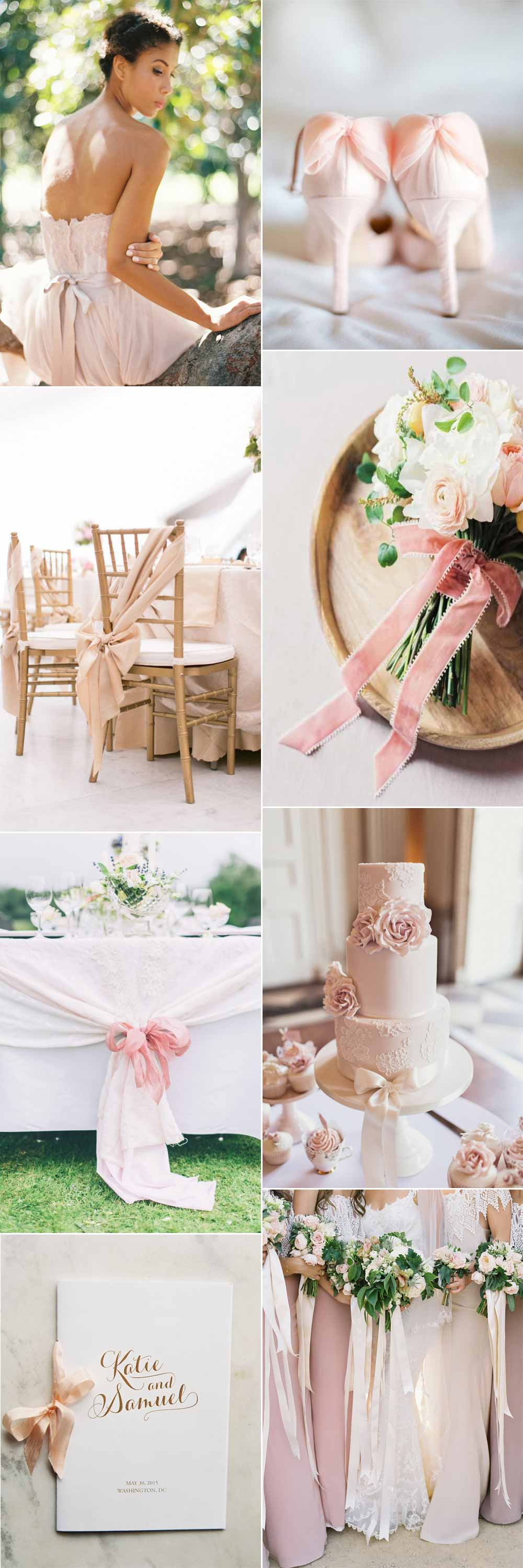 Blush and bow wedding ideas