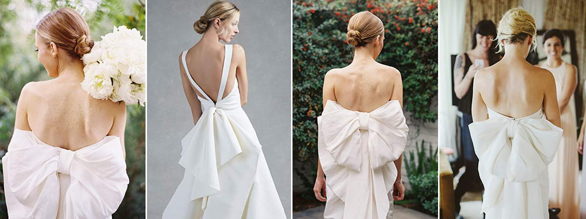 Bow wedding dress ideas