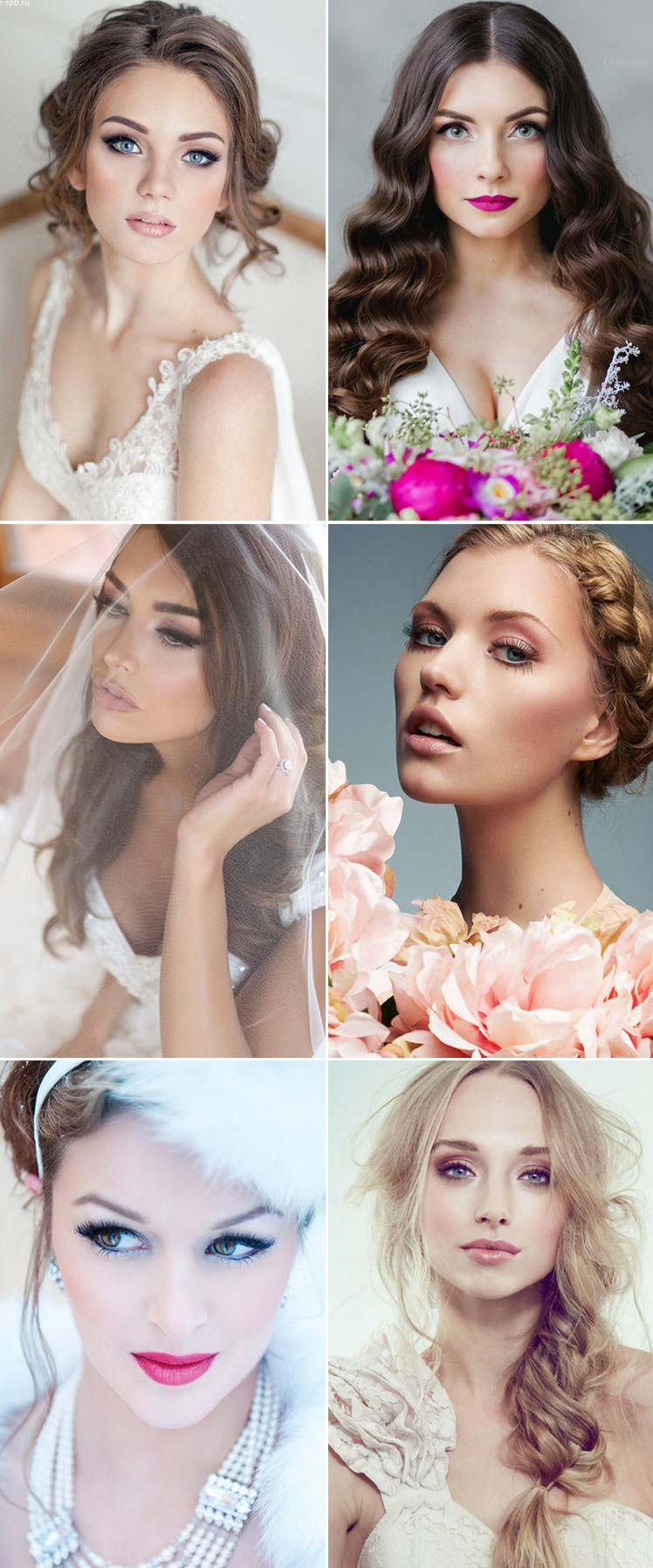 Classic bridal make-up ideas for every style
