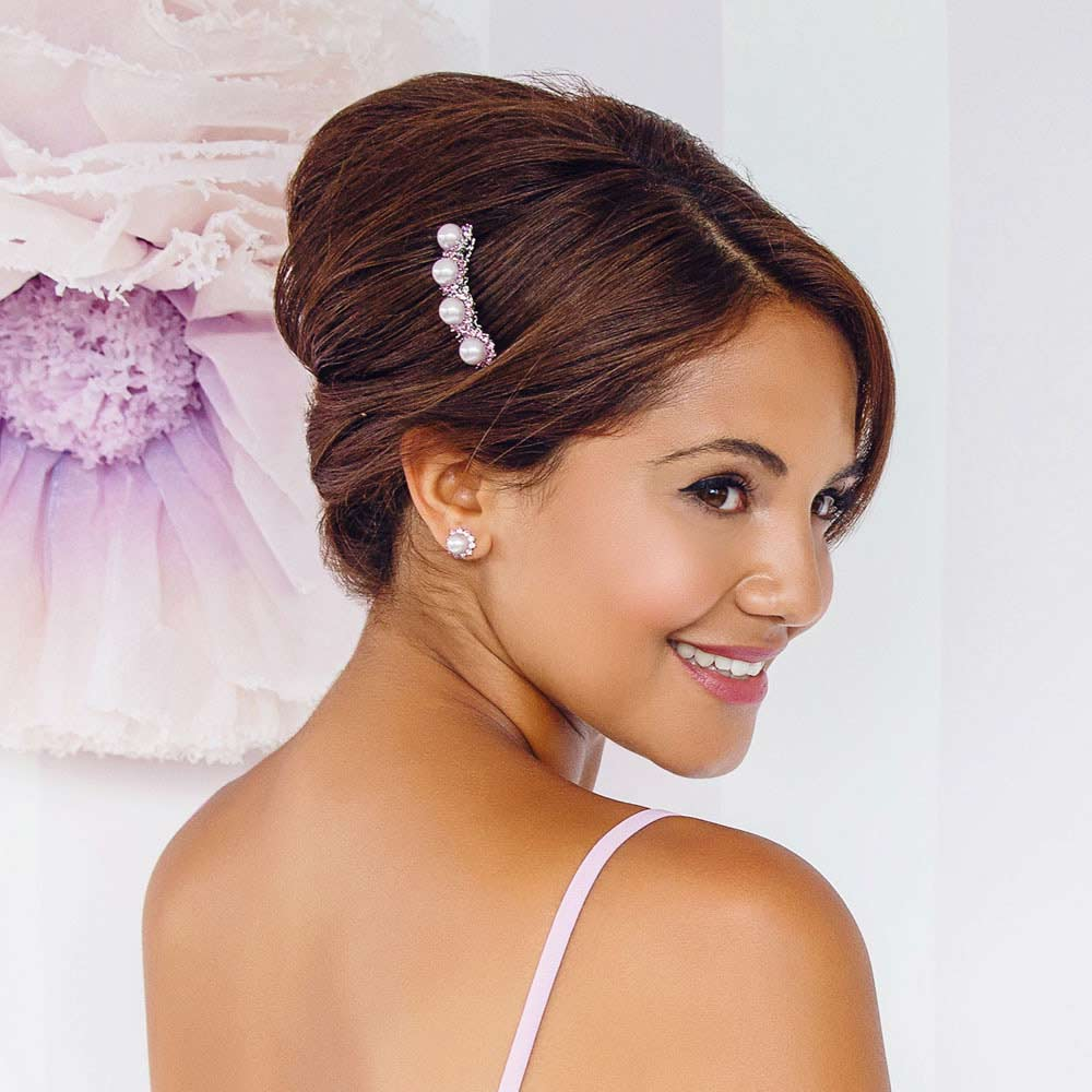 Collection of hair combs for bridesmaids